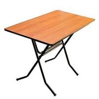 Стол складной Стандарт Ривьера 16ДМ 128-75РТ РИ бук ножки серебро
