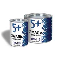 Эмаль ПФ-115 белая ТМ 5+ 5 л 0,9 кг